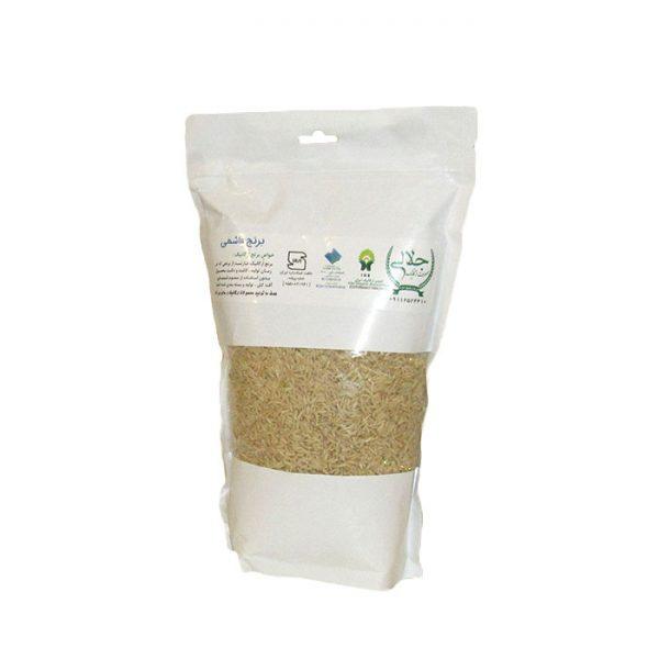 برنج قهوه ای هاشمی ارگانیک 1400 گرمی جلالی (مزرعه اطرب گیلان)