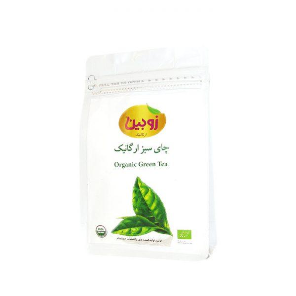 چای سبز ارگانیک 100 گرمی زوبین