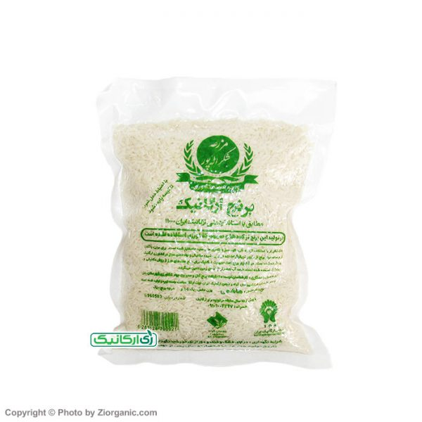 برنج سفید 1 کیلویی ارگانیک شکراله پور - زی ارگانیک