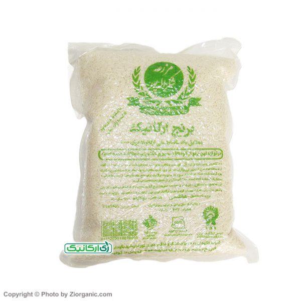 برنج سفید 2 کیلویی ارگانیک شکراله پور - زی ارگانیک