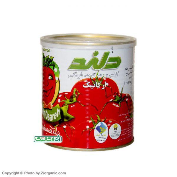 رب گوجه ارگانیک 800 گرمی دلند - زی ارگانیک