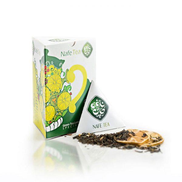 چای سبز و لیمو نافه سالم و ارگانیک - زی ارگانیک